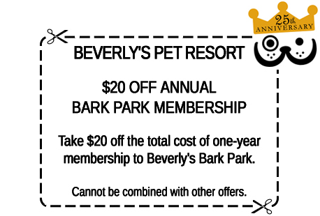 Click for printer-friendly Bark Park membership discount coupon in a new window.