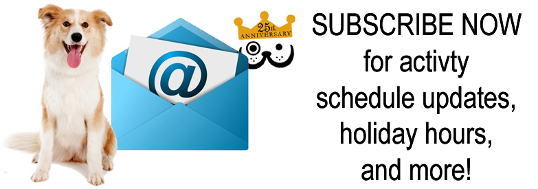 Subscribe to Our Newsletter for Activity Updates, Holiday Hours, and More!